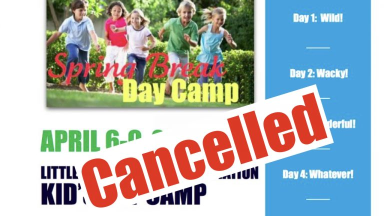 day camp cancelled!
