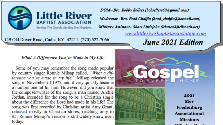 Click here to read newsletter.