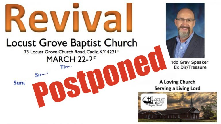 Revival postponed will attempt to reschedule